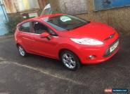 2012 FORD FIESTA 1.2 ZETEC RED 5 DOORS PETROL BLUETOOTH  for Sale