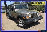 Classic 2003 Jeep Wrangler TJ Sport (4x4) Bronze Manual 5sp M Softtop for Sale