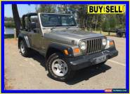 2003 Jeep Wrangler TJ Sport (4x4) Bronze Manual 5sp M Softtop for Sale