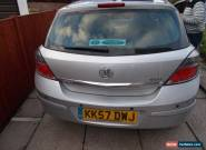VAUXHALL ASTRA SXi 2008 1.4 PETROL MANUAL 38K MILES - DAMAGED REPAIRABLE SALVAGE for Sale
