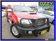 2012 Toyota Hilux KUN26R MY12 SR5 (4x4) Red Manual 5sp M Dual Cab Pick-up for Sale