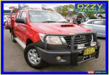 Classic 2013 Toyota Hilux KUN26R MY12 SR (4x4) Red Manual 5sp M Dual Cab Chassis for Sale