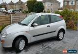 Classic 2001 FORD FOCUS 1.4CL SILVER 3 door 83,000 miles good condition spares or repair for Sale
