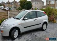 2001 FORD FOCUS 1.4CL SILVER 3 door 83,000 miles good condition spares or repair for Sale