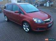 2006 VAUXHALL ZAFIRA SRI RED 2.2 DIRECT LOW MILEAGE NEEDS A LITTLE TLC 7 SEATER for Sale