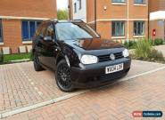 2004 VOLKSWAGEN GOLF 1.6 PETROL SE BLACK, 12 MONTH MOT, GOOD DRIVE, BARGAIN for Sale