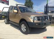 2009 Nissan Navara D40 ST-X (4x4) Gold Manual 6sp M KING CCHAS for Sale