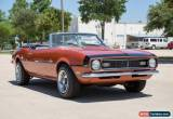 Classic 1968 Chevrolet Camaro Base Convertible 2-Door for Sale