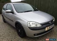 2001/51 VAUXHALL CORSA 1.4 SRI SPARES OR REPAIR,STARTS/DRIVES  for Sale