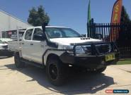 2012 Toyota Hilux KUN26R MY12 SR (4x4) White Manual 5sp M Dual Cab Pick-up for Sale