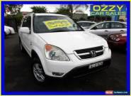 2002 Honda CR-V MY02 (4x4) Sport White Automatic 4sp A Wagon for Sale