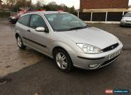 2003 FORD FOCUS ZETEC SILVER 1.6 PETROL SPARES OR REPAIR NO RESERVE for Sale
