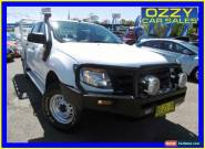 2012 Ford Ranger PX XL 3.2 (4x4) White Manual 6sp M Super Cab Chassis for Sale