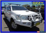 2010 Toyota Hilux KUN26R 09 Upgrade SR5 (4x4) White Automatic 4sp Automatic for Sale