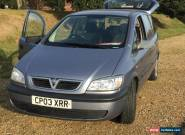 2003 VAUXHALL ZAFIRA 16V CLUB SILVER for Sale