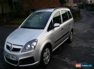 2006 VAUXHALL ZAFIRA LIFE SILVER for Sale