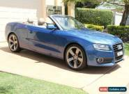 2009 Audi A5 8T MY10 S tronic quattro Blue Metallic Automatic 7sp A Cabriolet for Sale