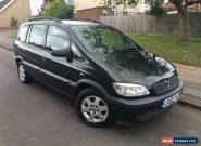 2002 (52) VAUXHALL ZAFIRA 16V CLUB 5 SPEED MANUAL 5 DOOR MPV GREEN for Sale