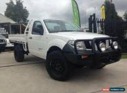 2010 Nissan Navara D40 RX (4x4) White Manual 6sp Manual Cab Chassis for Sale