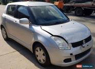 2005 SUZUKI SWIFT 5DR Hatchback 1.5L MAN Silver REPAIRABLE LIGHT DAMAGED  for Sale