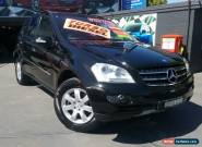 2007 Mercedes-Benz ML W164 07 Upgrade 320 CDI (4x4) Black Automatic 7sp A Wagon for Sale