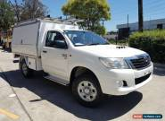 2012 Toyota Hilux KUN26R MY12 SR (4x4) White Manual 5sp M Cab Chassis for Sale