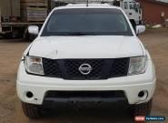 2007 NISSAN NAVARA D40 ST-X DUAL CAB 4X4 2.5L AUTO LIGHT DAMAGE REPAIRABLE DRIVE for Sale