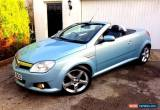 Classic **LOW MILES** 2008 VAUXHALL TIGRA EXCLUSIV SILVER 1.4 BLUE CONVERTIBLE MANUAL for Sale