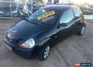 2001 Ford Ka Black Manual 5sp M Hatchback for Sale
