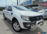 2012 Ford Ranger PX Wildtrak White Automatic Auto Sports Mode 4D Utility for Sale