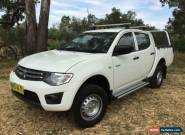 2012 Mitsubishi Triton MN MY12 GL-R White Automatic 4sp A Dual Cab Utility for Sale