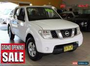 2011 Nissan Navara ST D40 MY11 White Automatic A Dual Cab for Sale