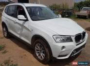 2011 BMW X3 WAGON 4X4 xDrive20d F25 2.0L TURBO DIESEL AUTO DAMAGED REPAIRABLE  for Sale