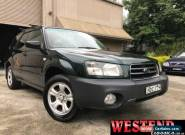2003 Subaru Forester 79V MY04 X Green Manual 5sp M Wagon for Sale