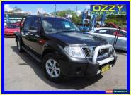 2012 Nissan Navara D40 MY11 RX (4x4) Black Automatic 5sp A Dual Cab Chassis for Sale