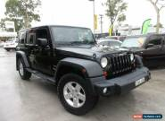 2009 Jeep Wrangler JK MY2010 Unlimited Sport Black Manual 6sp M Softtop for Sale