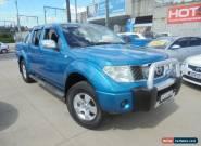 2007 Nissan Navara D40 ST-X Blue Manual 6sp M 4D Utility for Sale