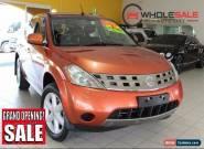 2005 Nissan Murano ST Z50 Orange Automatic A Wagon for Sale