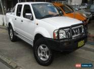 2004 Nissan Navara D22 ST-R (4x4) White Manual 5sp M Dual Cab Pick-up for Sale