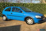 Classic 2001 VAUXHALL CORSA COMFORT 1.2i 16V 3 DOOR 5 SPEED  **ON SALE WITH NO RESERVE** for Sale