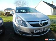 2007 VAUXHALL CORSA 1.4 SXI SILVER for Sale