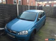 VAUXHALL CORSA DESIGN 16V BLUE 2003 53 REG for Sale