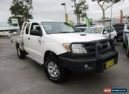 2008 Toyota Hilux KUN26R MY08 SR White Manual 5sp M 2D CAB CHASSIS for Sale