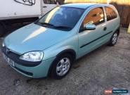 2001 VAUXHALL CORSA ELEGANCE 16V AUTO GREEN No Reserve Sale for Sale