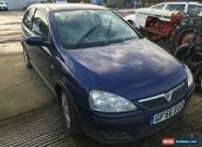 2006 VAUXHALL CORSA SXI+ 1.2 BLUE NON RUNNER SPARES OR REPAIRS MOT NO RESERVE for Sale