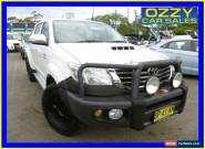 2012 Toyota Hilux KUN26R MY12 SR5 (4x4) White Manual 5sp M Dual Cab Pick-up for Sale