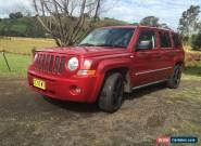 2008 JEEP PATRIOT 4X4 AUTO 4WD (NO RESERVE) (not toyota holden ford nissan) for Sale