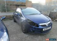 2006 VAUXHALL CORSA LIFE BLUE spares or repairs  for Sale