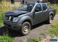 2011 NISSAN NAVARA D40 2.5L TURBO DIESEL M DUAL CAB DAMAGED REPAIRABLE for Sale