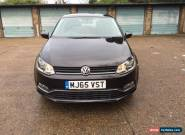 VOLKSWAGEN POLO 2015 1.0 SE 5 DOOR BLACK MK8 for Sale